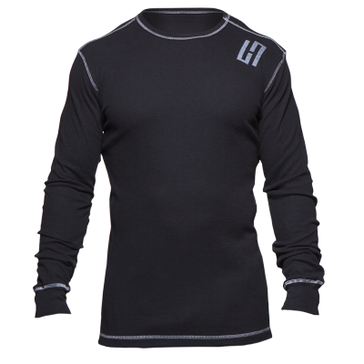 HardWodder Lightweight Thermal In Black With Contrast Stitch