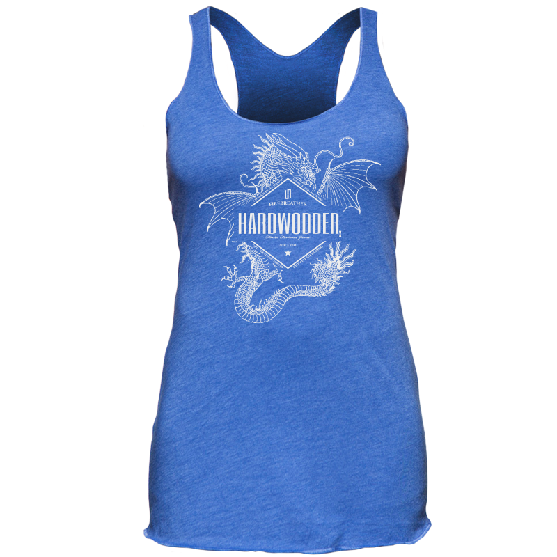 HardWodder Fire Breather Tank Top V1 Vintage Royal Blue