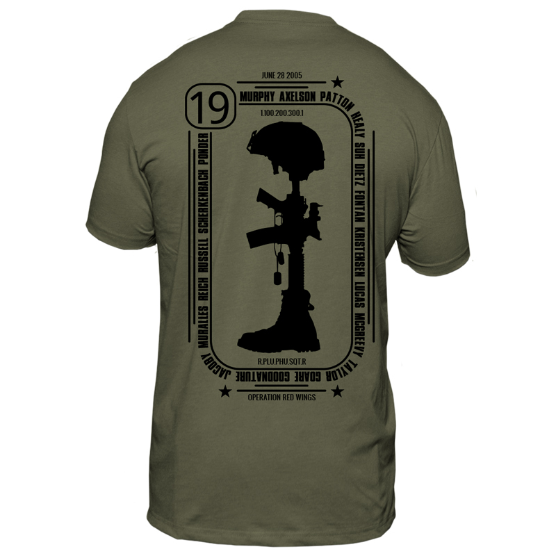 4th Annual Murph 2018 Tee OD Green Murph Back 800x800